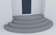 Входные бетонные ступени