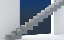 Прямая зеркальная лестница