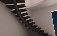 Бетонная лестница на центральном косуре