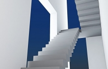 Маршевая бетонная лестница