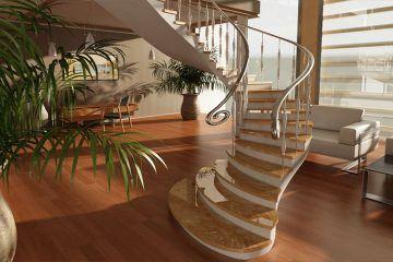 Купить монолитную лестницу из бетона