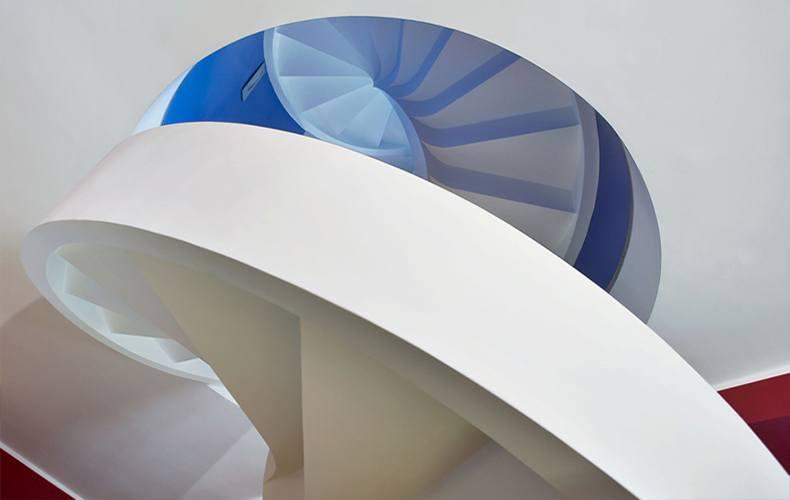 Изготовление железобетонной винтовой лестницы